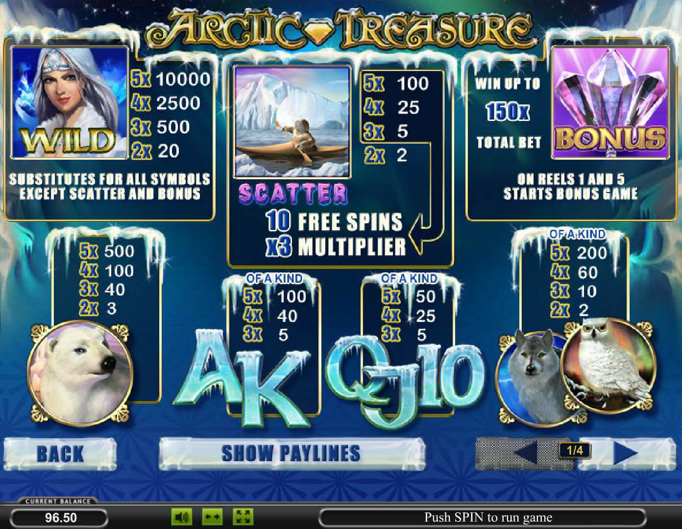 arctic treasure игровой автомат онлайн информация