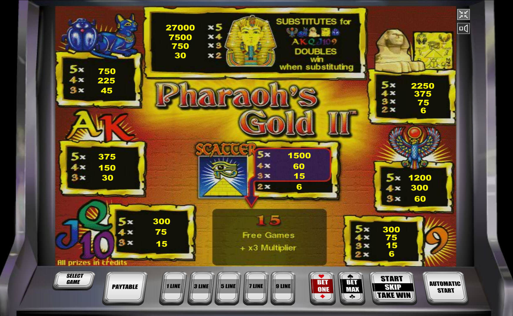 pharaohs gold игровой автомат онлайн информация